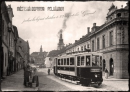 historical photomontage of Pelhřimov town