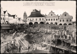 Construction of the Pelhrimov subway.