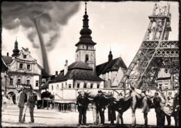 Tornado completed the construction of a new tower of Pelhřimov ... It was built after by some Frenchman in another city...